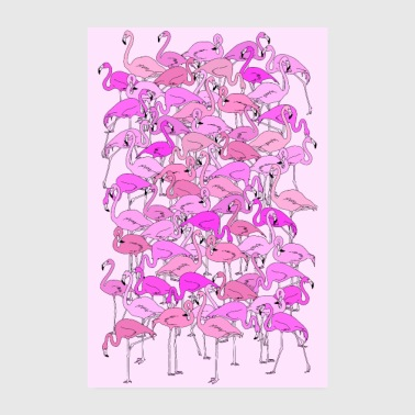 Trend Flamingo Flamingos Animals Poster Trend - Poster 8 x 12
