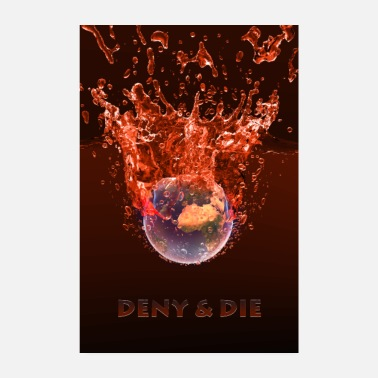 Global Global Warming Red Edition - Poster 20x30 cm