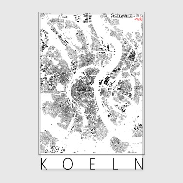 Schwarzplan Köln Figureground Diagram - Poster 20x30 cm