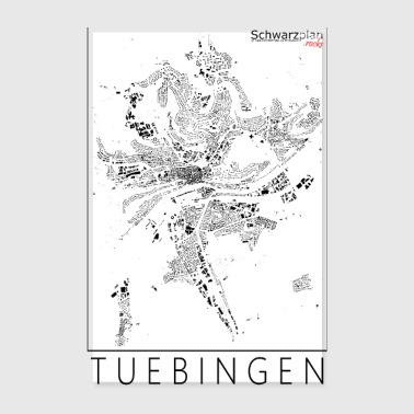 Schwarzplan Tübingen Figureground Diagram - Poster 20x30 cm
