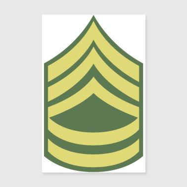 Name Militär Uniform US Army Sergeant First Class - Poster 20x30 cm