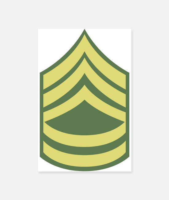Corporal Posters - Name Military Uniform US Army Sergeant First Class - Posters white