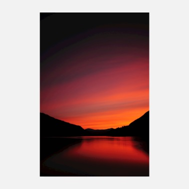 Norge Solnedgang i Norge - Poster 20x30 cm
