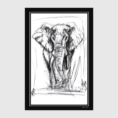 By The Elephant by Djao - Poster 20x30 cm