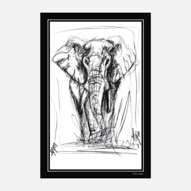Primal The Elephant by Djao - Poster 8 x 12