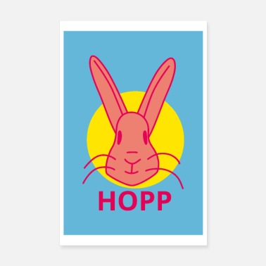 Easter Bunny Bunny Hopp POSTER - Poster 8 x 12