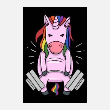 Weightlifting Weightlifting Unicorn - Poster