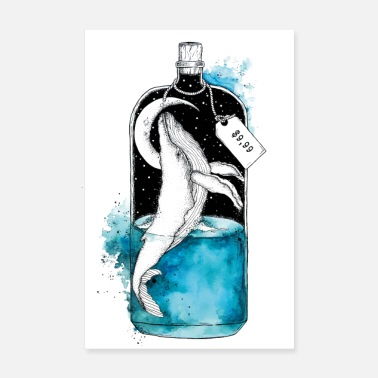 Stick Message in a bottle - Poster 8 x 12