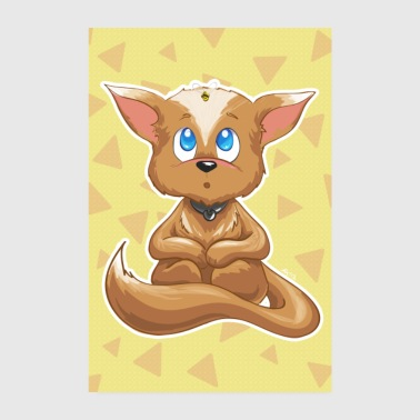 Pregnant Curious Fox Yellow Bee Nursery Poster - Poster 8 x 12