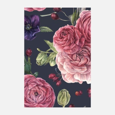 Easter Floral wallpaper vintage colorful gift floral pattern - Poster