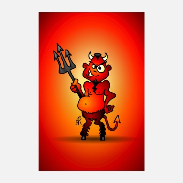 Devil Male Fat red devil - Poster