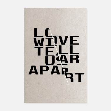 Us Then love, love will tear us apart again - Poster 20x30 cm