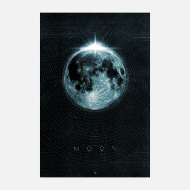 Graphisme lune - Poster 20 x 30 cm