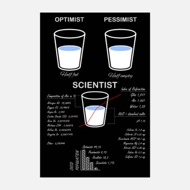 Chemical The glass is half - scientific view - Poster
