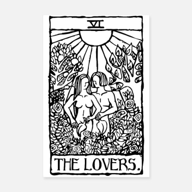 Witchcraft The Lovers Tarot Card Poster - Poster