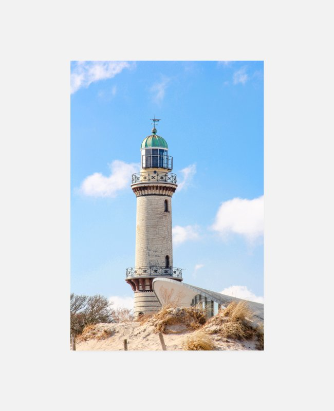 Weather Posters - Rostock Rostock Warnemünde Rostock (lighthouse) - Posters white
