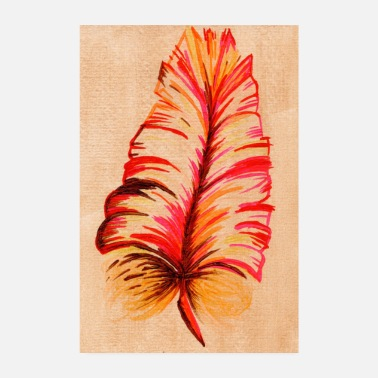 Feathered Animal feather - Poster