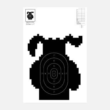 Video Retro Video Game Shooting Target - Cane da caccia - Poster