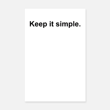Keeper Keep it simple. - Poster