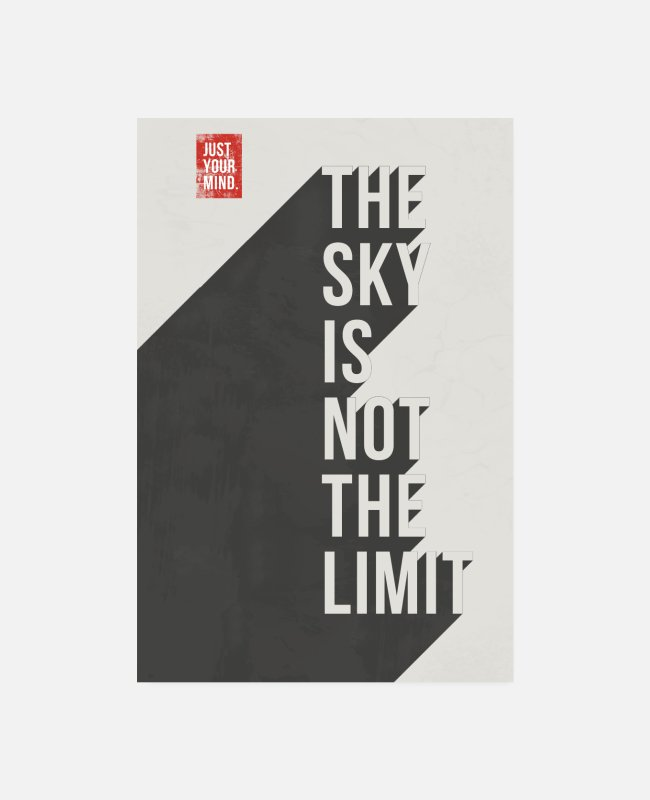 Grungy Posters - Sky is not the limit - Posters white