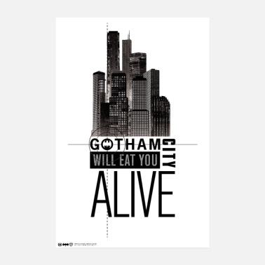 Batman Gotham City Will Eat You Alive - Juliste 20x30 cm