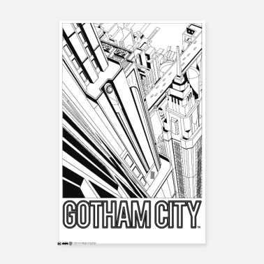 Batman Gotham City Comic Cover - Poster