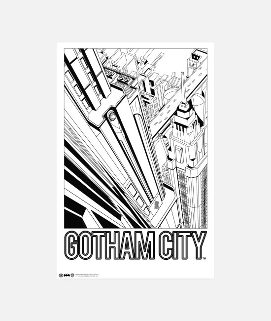 Official License Julisteet - Batman Gotham City Comic Cover - Julisteet valkoinen