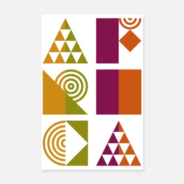 Typo Africa Typo Geometry Pattern - Poster
