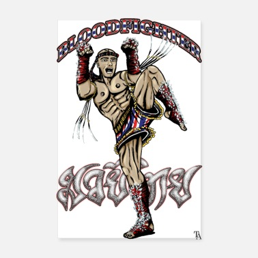 Muay Thai Sport - Muay Boran Bloodfighter - Poster