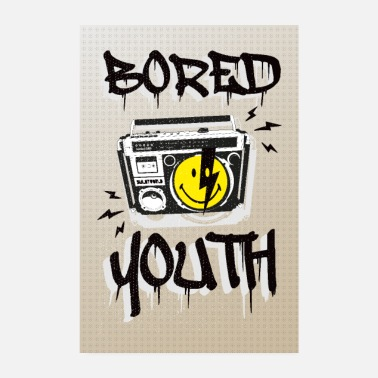 Grafiti SmileyWorld Bored Youth - Poster