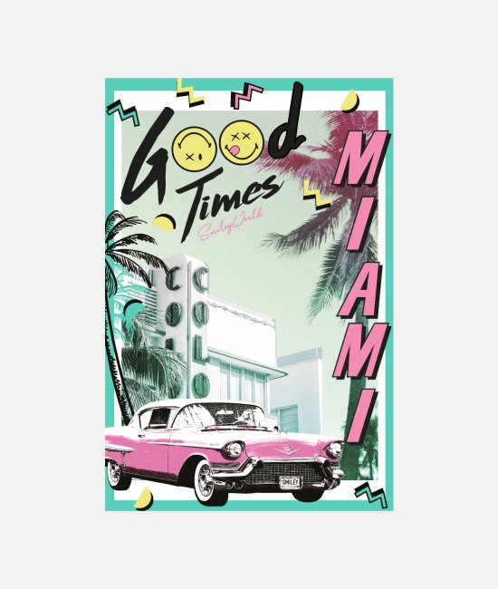 Auto Posters - SmileyWorld Miami Vibes Good Times - Posters wit