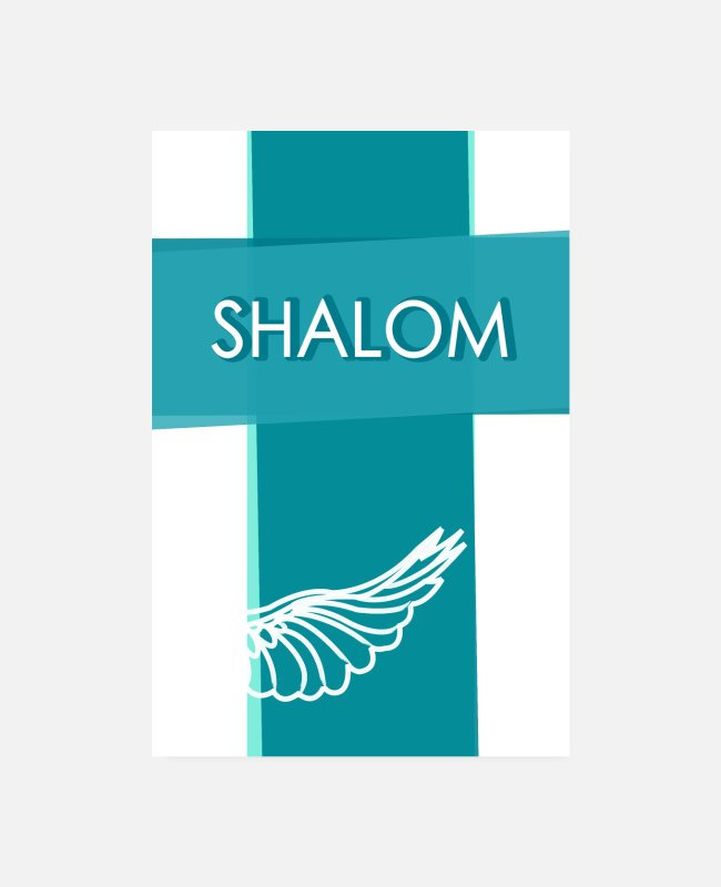 Easter Posters - Shalom peace annual solution faith - Posters white