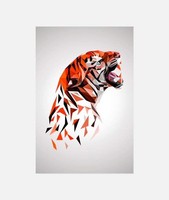 Animated Film Posters - Proud Tiger - Posters white