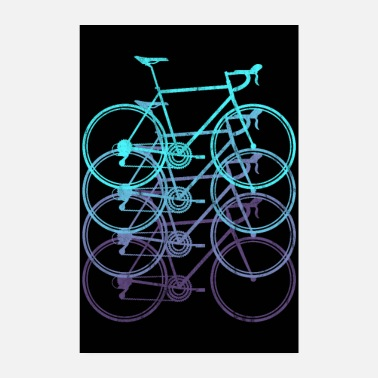 Road Road Bike Road Cyclist Bicycle Triathlon Poster - Poster