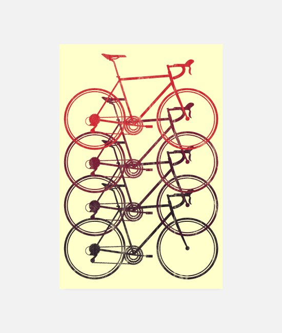 Cyklist Posters - Road Bike Road Cyclist Bicycle Triathlon Plakat - Posters hvid