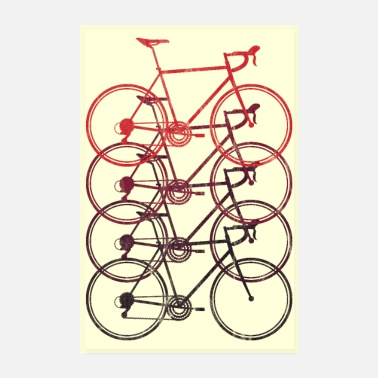 Bike Road Bike Road Cyclist Bicycle Triathlon Plakat - Poster