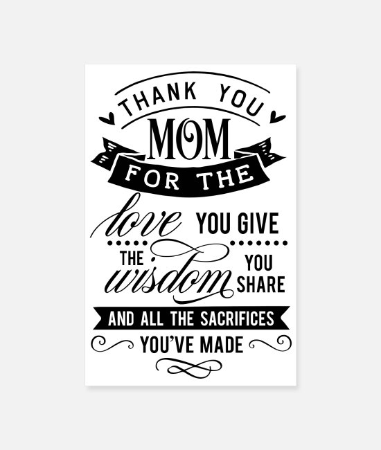 Meilleure Maman Posters - Merci maman - Posters blanc