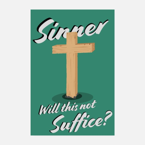 Game Posters - Sinner Will This Not Suffice? - Poster - Poster white
