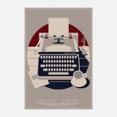 Writing Creative Writing Artdeco - Poster
