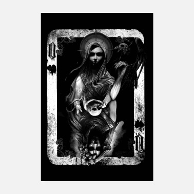 Pokeri Queen Of Death And Despair Black Poster - Juliste