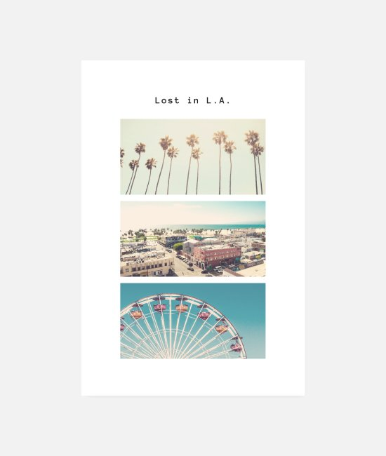 Hollywood Posters - Los Angeles Poster - Posters white