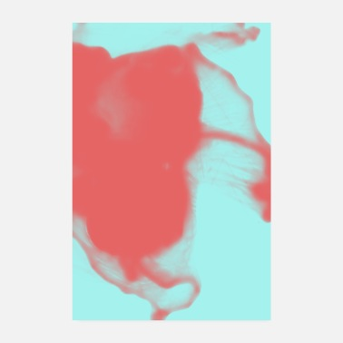 Coral Alcohol Colors Abstract Coral Mint - Poster