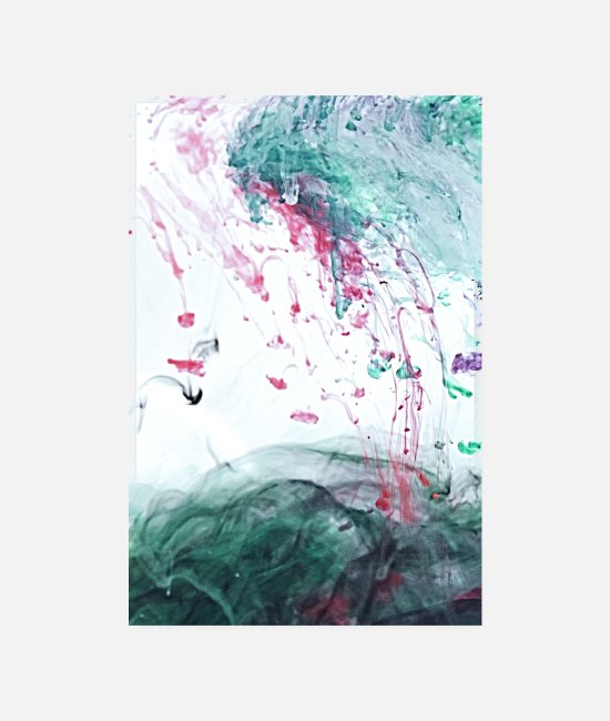 Water Posters - Ocean Ink - Alcohol Ink Abstract Modern - Posters white