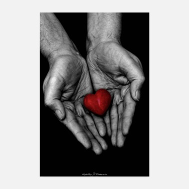 Handprint Hand with heart - Poster