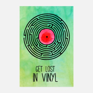 Record Get Lost in Vinyl Labyrinth Poster - Poster