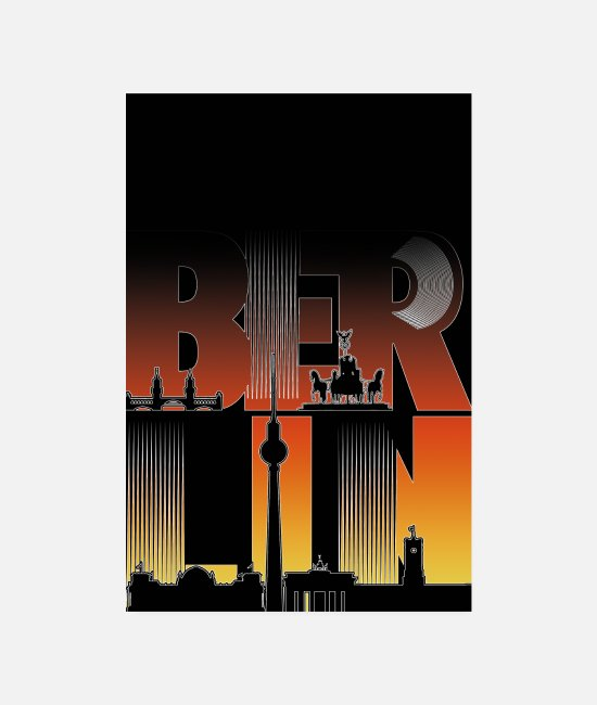 Berlin Posters - Poster Berlin - Posters white