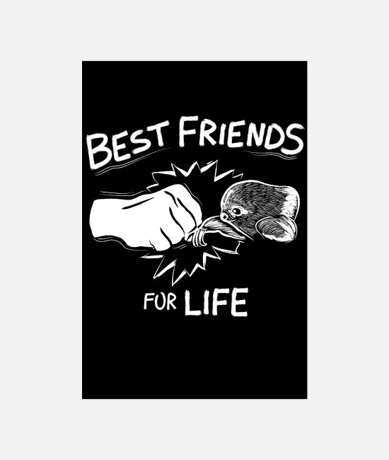 Schildkröte Poster - Best Friends For Life Faultier - Poster Weiß