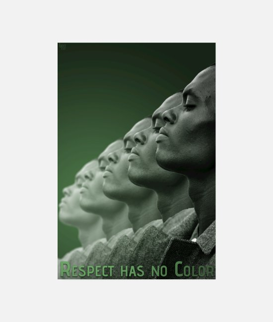 Farbe Poster - Respect has no Color 2 - Poster Weiß