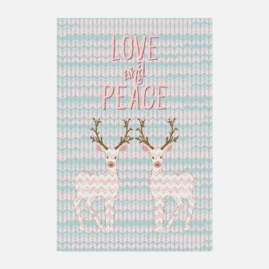 Love And Peace Rentier - Poster
