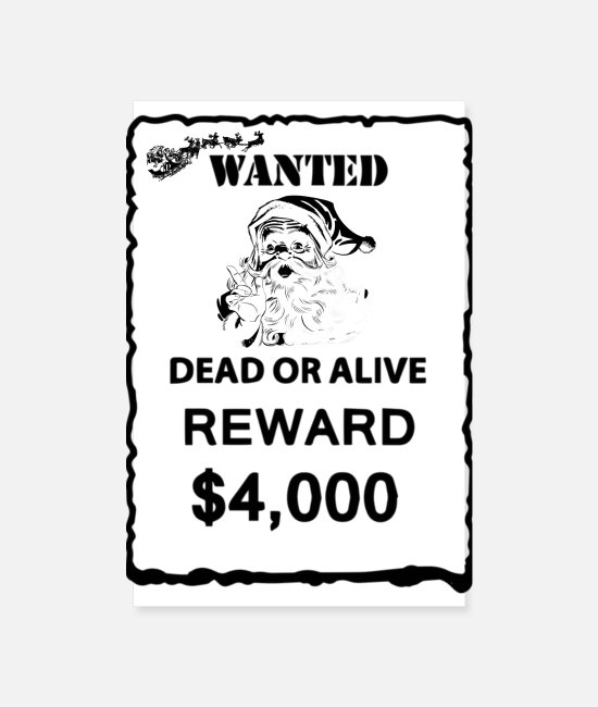 Rap Posters - Santa is wanted - Posters white